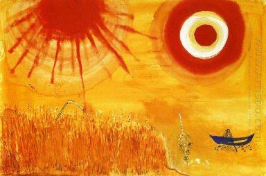 Marc Chagall - A Wheatfield on a Summer's Afternoon